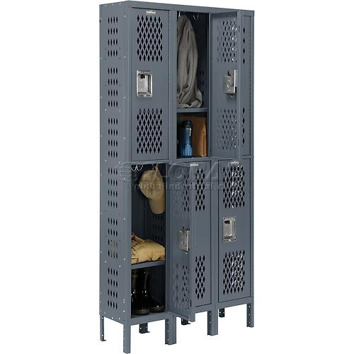 locker double tier 3 wide